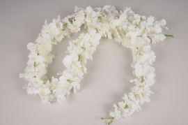 x077dh White artificial hydrangea garland L160cm