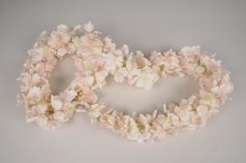 x078dh Guirlande d'hortensia artificielle rose L160cm