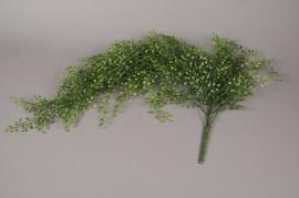 x078ee Piquet artificiel de feuilles de jasmin vert L80cm