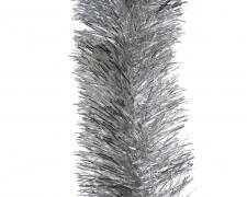 X081KI Guirlande de noël scintillante argent D10cm L270cm