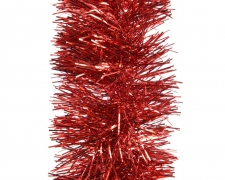 X082KI Bright red christmas garland D10cm L270cm