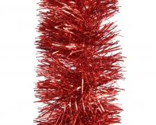 X082KI Guirlande noël rouge D10cm L270cm