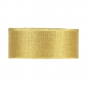 X083UN Set of 5 gold satin ribbons 40mm x 112m