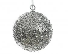 X085KI Boule sequins argent D40cm