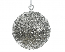 X085KI Silver sequin ball D40cm