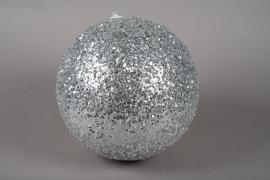 X086KI Boule sequins argent D30cm