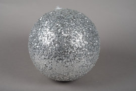 X086KI Silver sequin ball D30cm