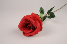 x087am Artificial red rose H77cm