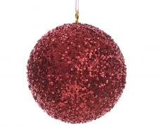 X087KI Red sequin ball D40cm
