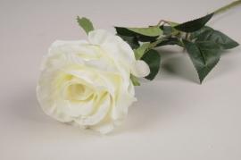 x088am Rose artificielle blanc H77.5cm