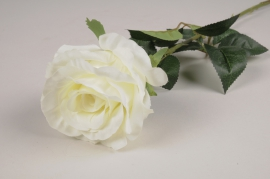 x088am White artificial rose H77.5cm