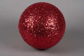X090KI Red sequin ball D30cm
