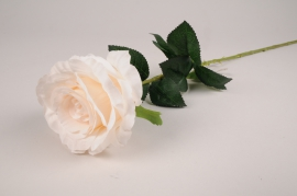 x092am White artificial rose H78cm