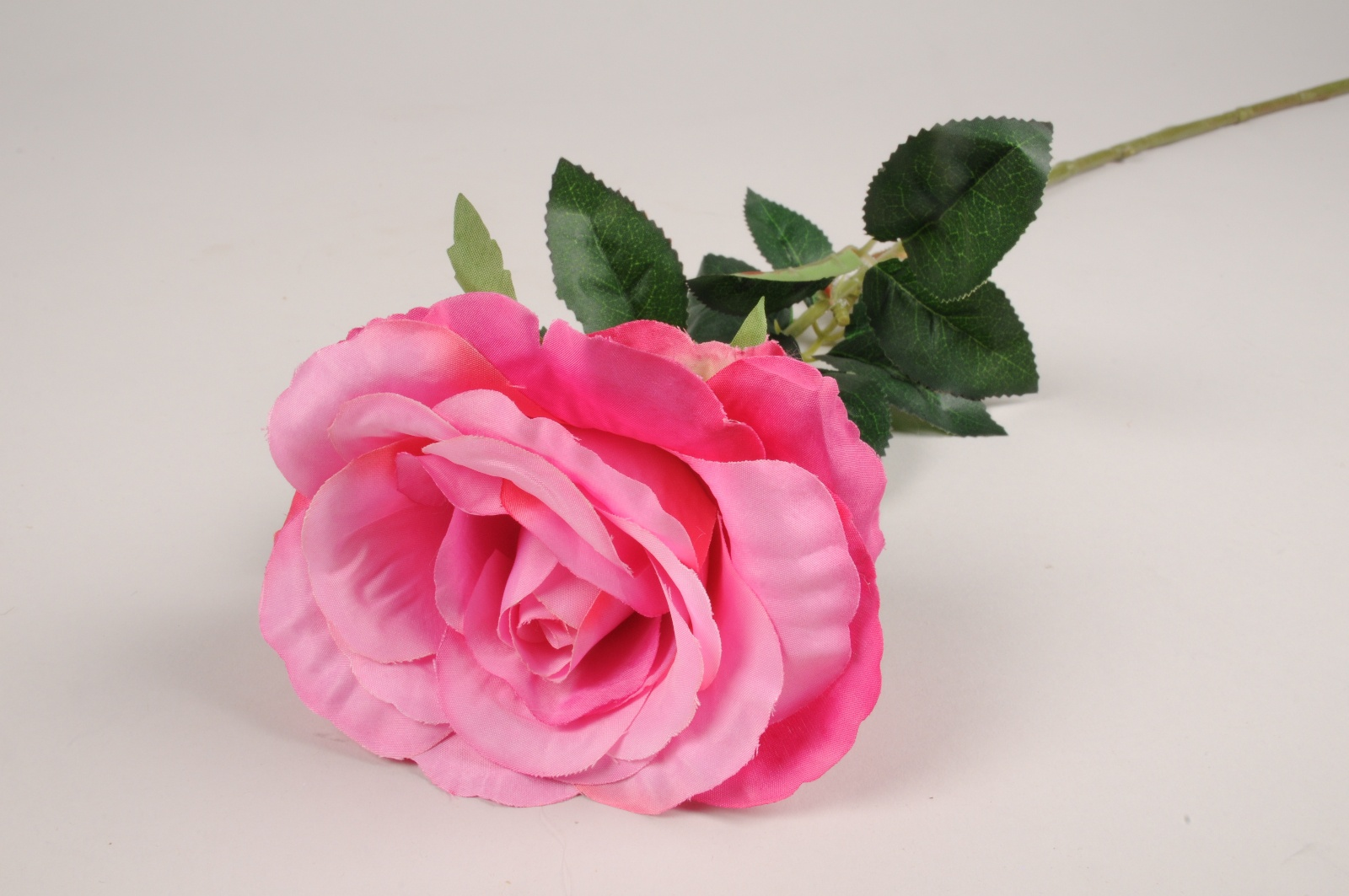 x093am Rose artificielle rose fuchsia H74cm