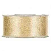 X094UN Gold satin ribbon 40mm x 25m