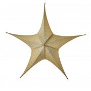 X095DQ Etoile en tissu or pailleté diamètre110cm