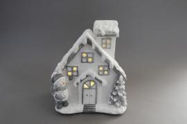 X096DQ Maison céramique lumineuse H36cm