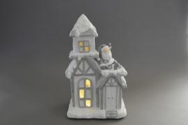 X097DQ Christmas decorative luminous house H36cm