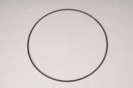 x099ec Cercle en métal noir D30cm