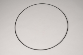 x100ec Cercle en métal noir D50cm