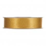 X103UN Shiny gold satin ribbon 25mm x 25m