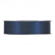 X104UN Blue satin ribbon with gold glitters 25mm x 25m