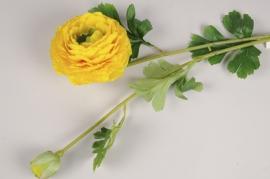 x107am Renoncule artificielle jaune H75cm