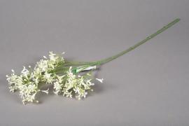 x109ee Saxifrage artificiel blanc H65cm