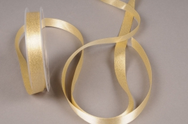 X110UN Gold satin ribbon 15mm x 25m