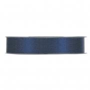 X112UN Blue satin ribbon with gold glitters 15mm x 25m
