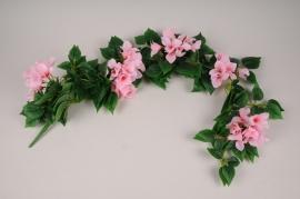 x113am Pink artificial bougainvillea pick H100cm
