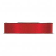 X113UN Red satin ribbon with gold glitters 15mm x 25m