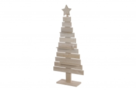 X114U7 Natural wooden Christmas tree H140cm