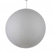 X117DQ Boule en tissu blanc pailleté D60cm