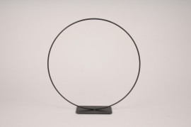 x117ec Cercle métal noir D30cm