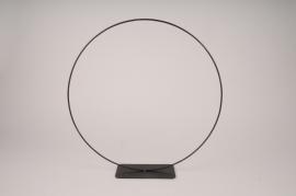 x118ec Cercle métal noir D40cm