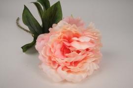 x119am Pivoine artificielle rose H63cm