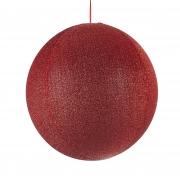 X119DQ Boule en tissu rouge pailleté D60cm