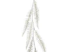 X119KI Guirlande de feuilles blanches H120cm