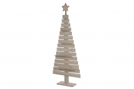 X119U7 Natural wooden Christmas tree H180cm