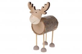 X121U7 Wooden reindeer H12cm