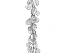 X125KI Guirlande argent et perles L110cm