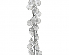 X125KI Silver plastic beads garland L110cm