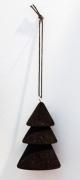 X126GM Black velvet christmas tree D4,5cm H7.5cm