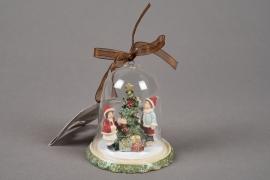 X127KI Deco glass bell christmas assorted D8cm