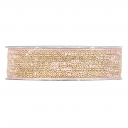 X127UN Nude cotton ribbon 25mm x 10m