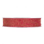 X128UN Ruban de coton rouge et or 15mm x 10m