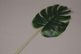x130ee Feuille de monstera artificiel vert H73cm