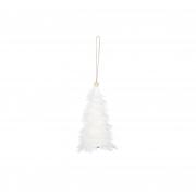 X131DQ Sapin en plumes blanches H15cm