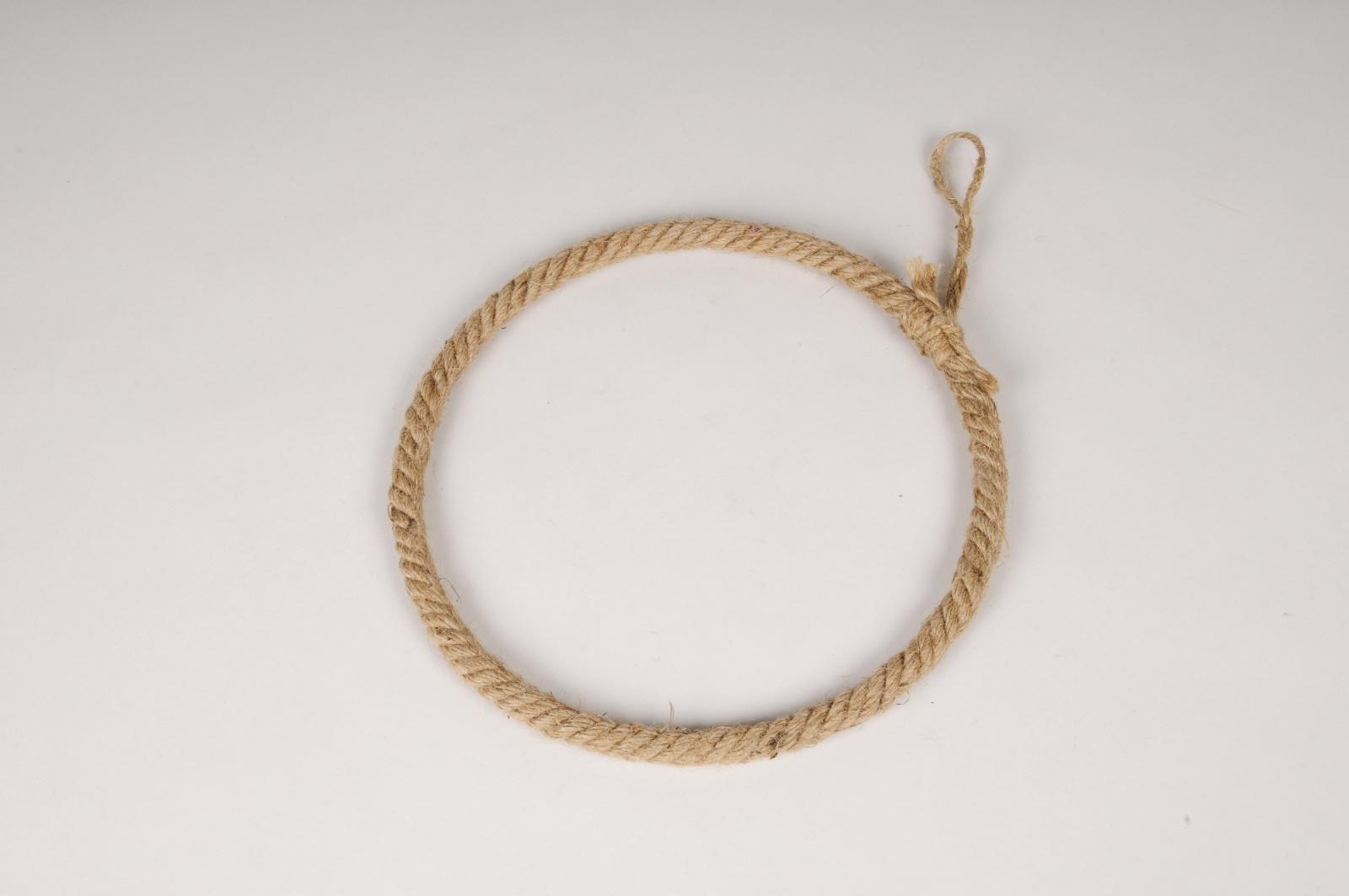 x133ec Cercle en corde naturelle D25cm